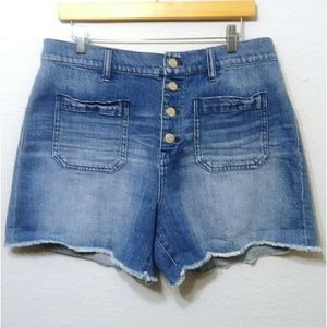 Madewell High Rise Jean Shorts Size 32